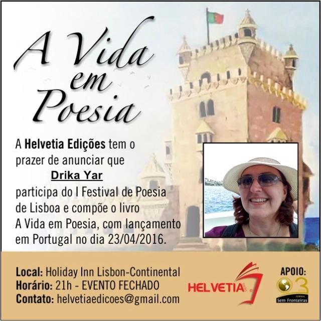 Festival de Poesia de Lisboa 2016 - Folder de Divulgação - Drika Yar