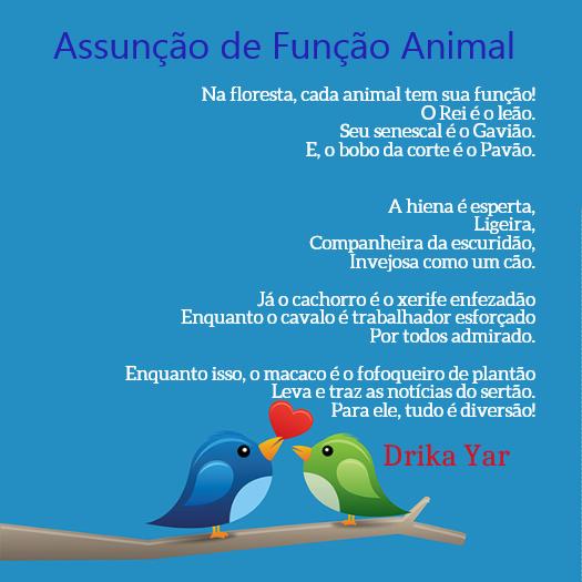 FotoPoema - Drika Yar - Assunção de Função Animal